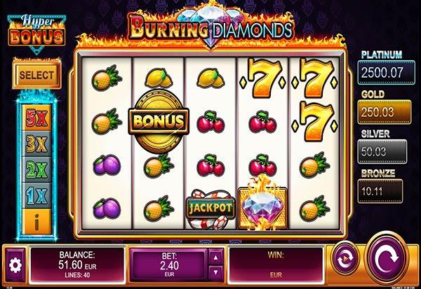 Burning Diamonds 777 Slots Bay game