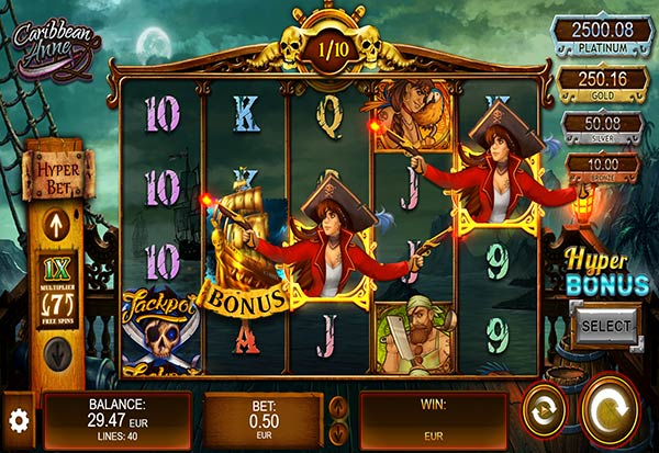 Caribbean Anne 777 Slots Bay game