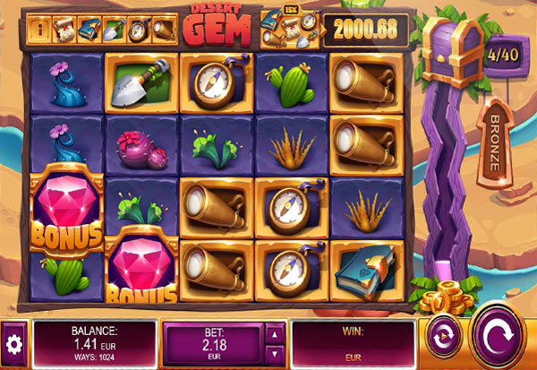 Desert Gem 777 Slots Bay game