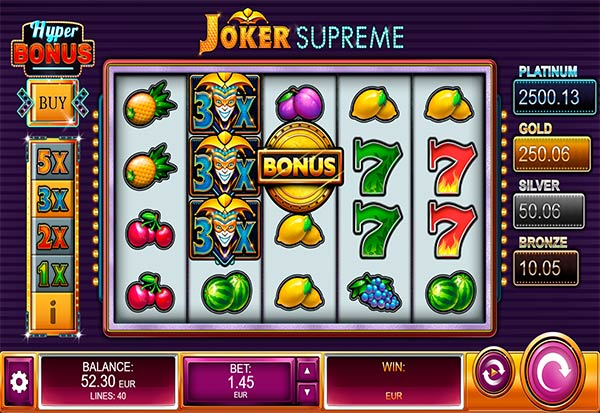 Joker Supreme 777 Slots Bay game