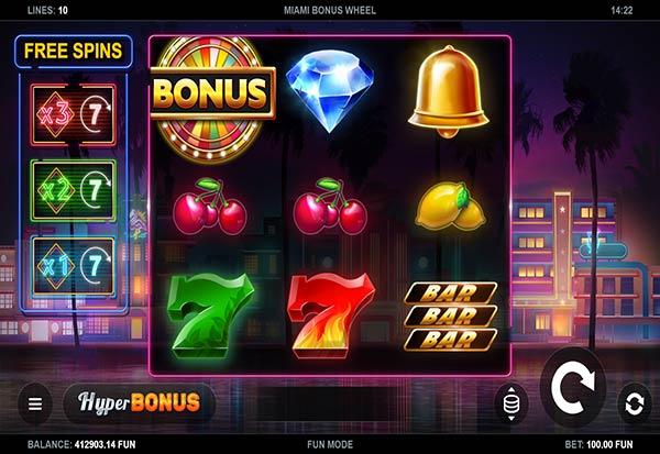 Miami Bonus Wheel 777 Slots Bay game