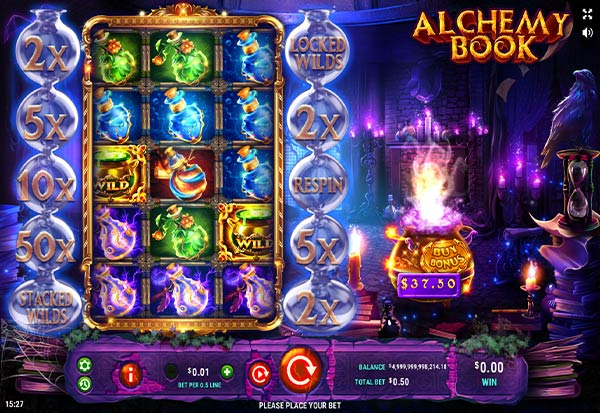 Alchemy Book 777 Slots Bay game