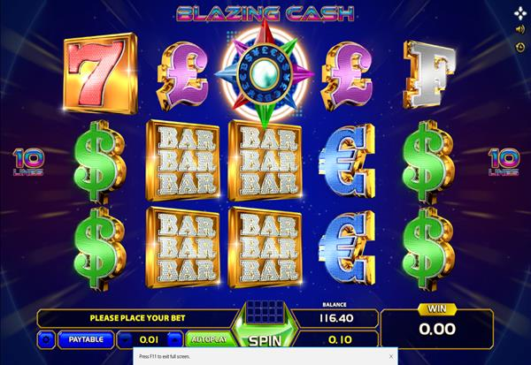 Blazing Cash 777 Slots Bay game