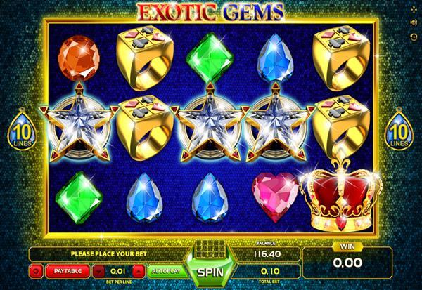 Exotic Gems 777 Slots Bay game