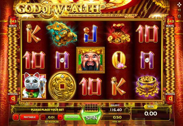 God of Wealth 777 Slots Bay game