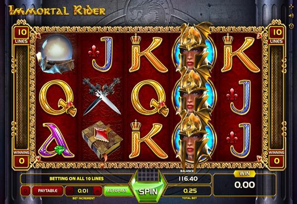 Immortal Rider 777 Slots Bay game