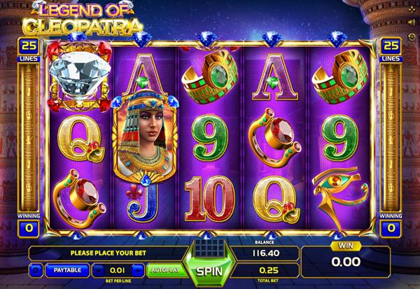 Legend of Cleaopatra 777 Slots Bay game