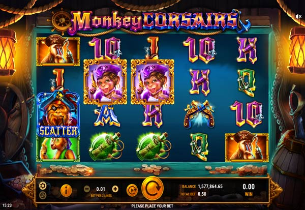 Monkey Corsairs 777 Slots Bay game