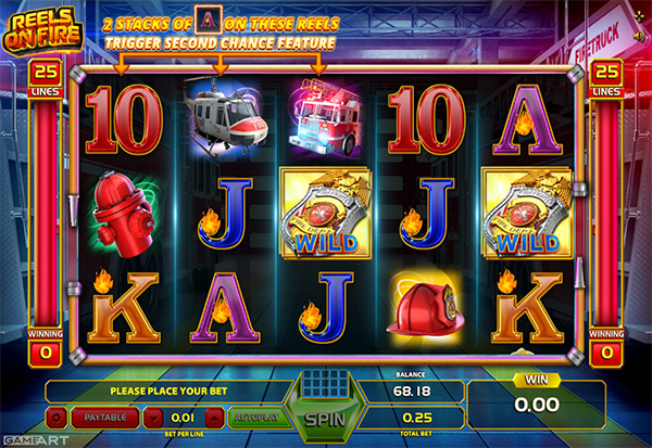 Reels On Fire 777 Slots Bay game