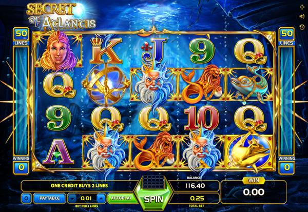Secret of Atlantis 777 Slots Bay game