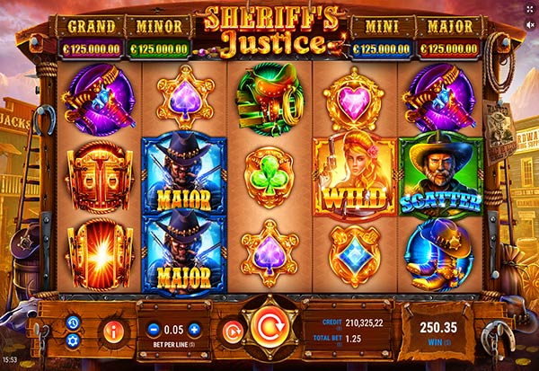Sheriff's Justice 777 Slots Bay game