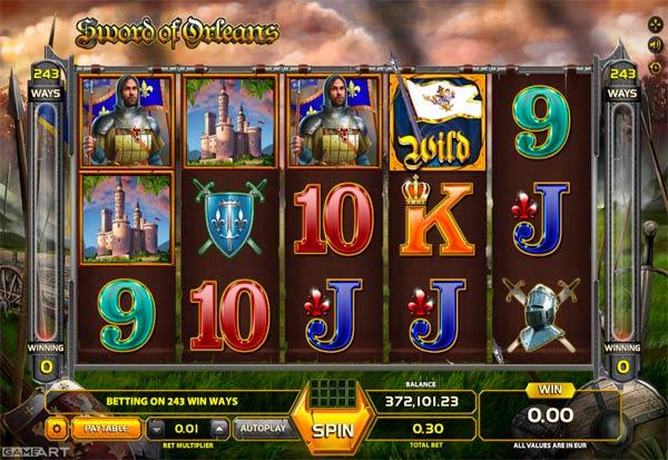 Sword Of Orleans 777 Slots Bay game
