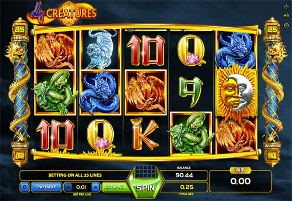 The Four Creatures 777 Slots Bay game