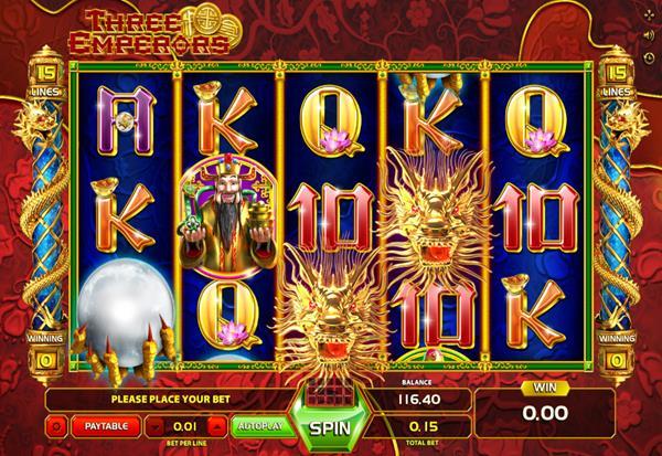Three Emperors 777 Slots Bay game