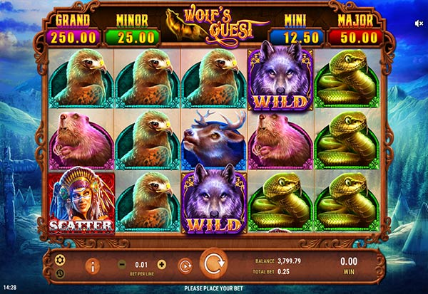 Wolf's Quest 777 Slots Bay game