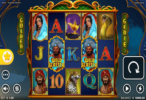 Golden Genie and The Walking Wild 777 Slots Bay game