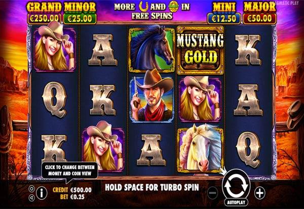 Mustang Gold 777 Slots Bay game