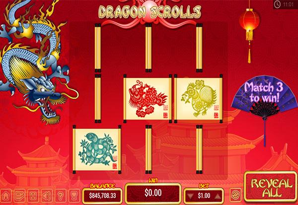Dragon Scrolls 777 Slots Bay game