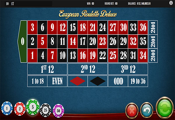 European Roulette Deluxe 777 Slots Bay game