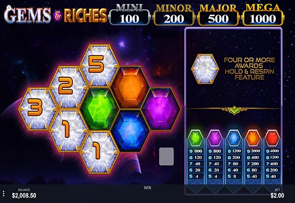 Gems & Riches 777 Slots Bay game