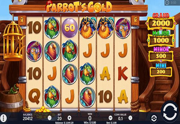 Parrots Gold 777 Slots Bay game