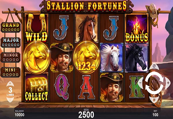 Stallion Fortunes 777 Slots Bay game
