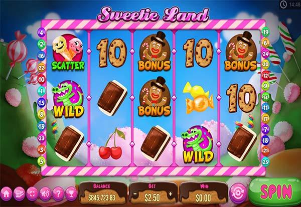 Sweetie Land 777 Slots Bay game
