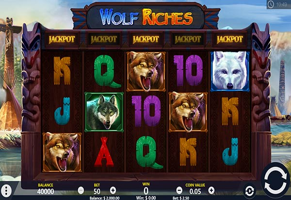 Wolf Riches 777 Slots Bay game