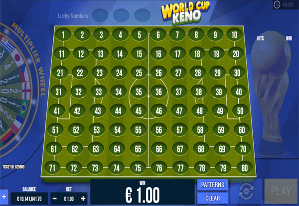 World Cup Keno 777 Slots Bay game