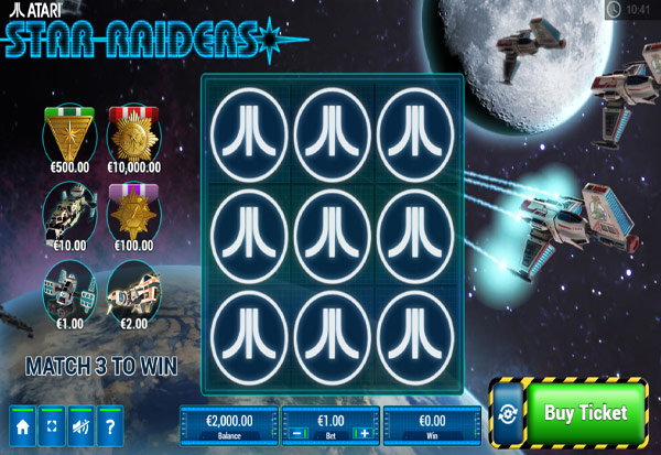 Star Raiders Scratch 777 Slots Bay game