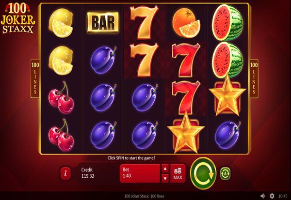 100 Joker Staxx 777 Slots Bay game