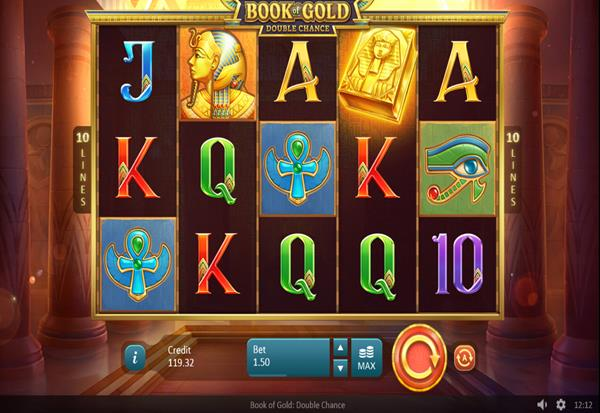Book of Gold Double Chance 777 Slots Bay game