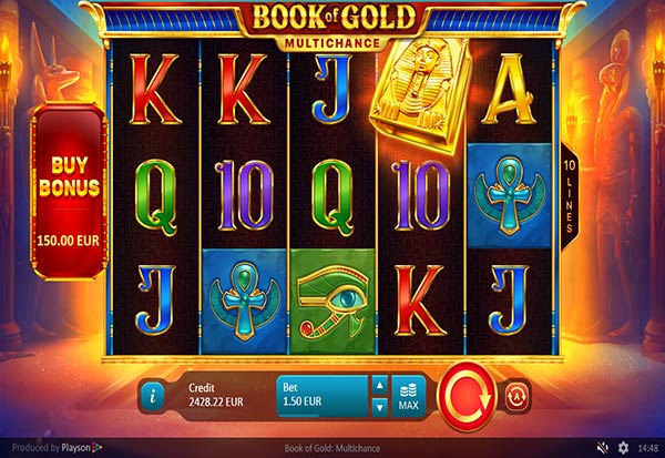 Book of Gold Multichance 777 Slots Bay game