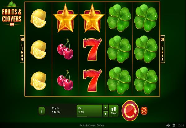 Fruits n Clovers 20 lines 777 Slots Bay game