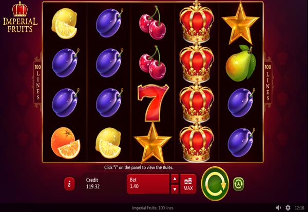 Imperial Fruits 100 Lines 777 Slots Bay game