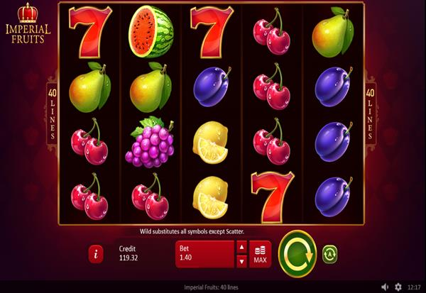 Imperial Fruits 40 lines 777 Slots Bay game