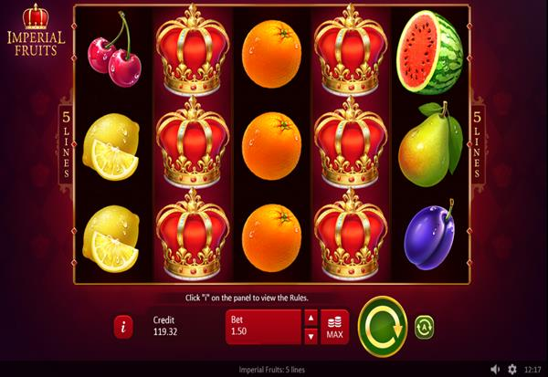 Imperial Fruits 5 lines 777 Slots Bay game