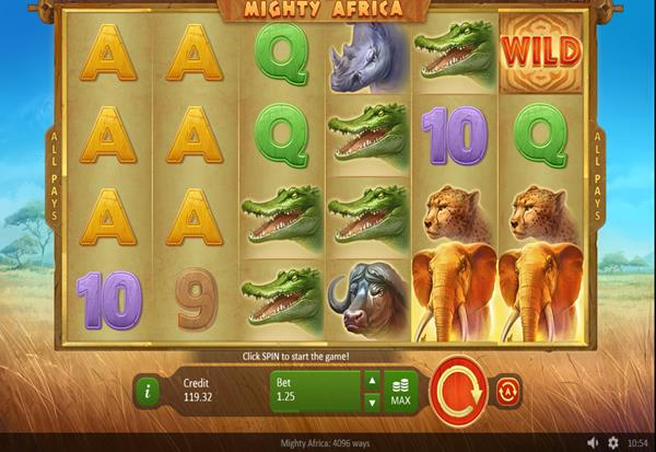 Mighty Africa 4096 ways 777 Slots Bay game