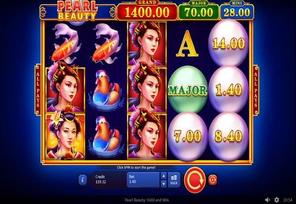 Pearl Beauty Hold and Win 777 Slots Bay game