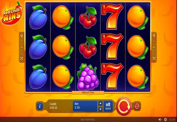 Red Chilli Wins 777 Slots Bay game