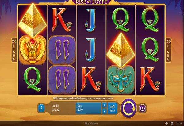 Rise of Egypt 777 Slots Bay game