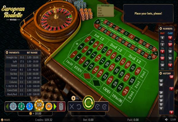 Roulette with Track 777 Slots Bay game