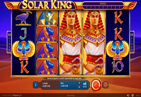 Solar King 777 Slots Bay game