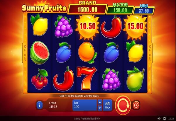 Sunny Fruits Hold and Win 777 Slots Bay game