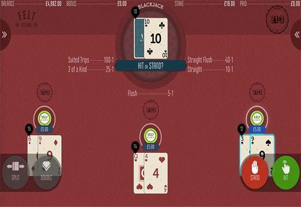21+3 Blackjack 777 Slots Bay game