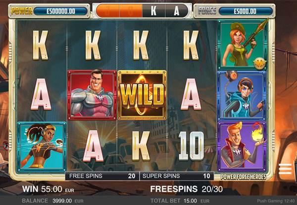 Power Force Heroes 777 Slots Bay game