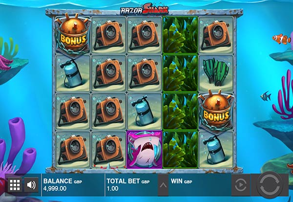 Razor Shark 777 Slots Bay game