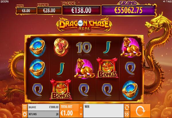 Dragon Chase 777 Slots Bay game