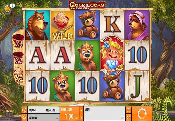 Goldilocks And The Wild Bears 777 Slots Bay game