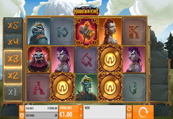 Hall of the Mountain King 777 Slots Bay game